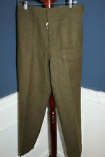 Original 1953 d. Canadian Army Serge Wool Battle Dress Trousers, Well Marked