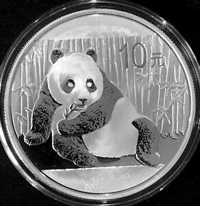 China 10 yuan silver BU 2015 Panda & Temple of Heaven KM#2216