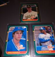 1987 Donruss The Rookies RC Lot MARK McGWIRE/ GREG MADDUX/ FRED McGRIFF HOF