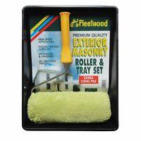 Exterior Masonry Roller Set Premium Quality Extra Long Pile for Brickwork Paint