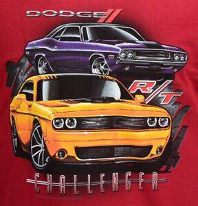 Dodge Challenger R/T T-shirt 70-74 & 2008 to 2017 - 100% Cotton Preshrunk Red