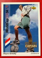 SOCCER WAYNE GRETZKY Upper Deck Worldcup USA 94 Honorary Cpt Trading CARD #HC4