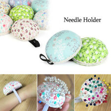 Supplies Ball-Shaped Tool Needle Holder Sewing Pin Cushion Floral Wrist Strap
