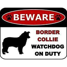 Beware Border Collie Watchdog On Duty Dog Sign Sp1294
