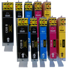 10 Compatible replacements for Canon PGI-520 / CLI-521 printer ink cartridges.