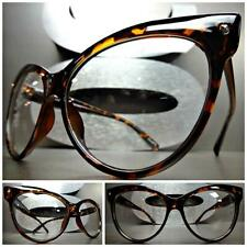 d9f24f2cd03 CLASSIC VINTAGE 60 s CAT EYE Style Clear Lens EYE GLASSES Tortoise Fashion  Frame
