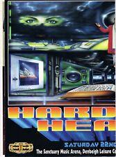 HARDCORE HEAVEN Rave Flyer Flyers A3 23/5/92 The Sanctuary Milton Keynes PEZ art