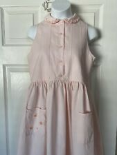 JACADI Girl/'s Trompette Chambray Sleevless Dress Size 4 Years NWT $62