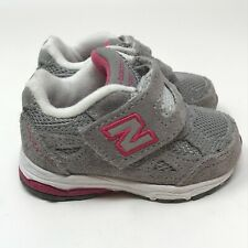 New Balance 990 Baby Toddler Girl Size 2 Sneakers Tennis Shoes Grey Pink