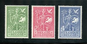 Belgium Complete MNH Set #B544-546 Surtax for Bureau of Childhood & Youth Stamps