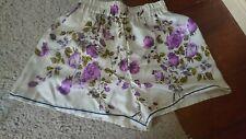 NWOT Dolce & Gabbana 100% Silk Twill Shorts Sz 40 S XS Floral Roses Pockets Rare