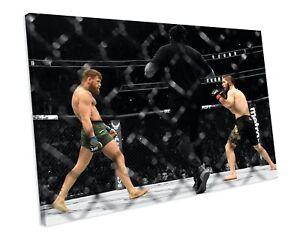 CONOR MCGREGOR VS KHABIB UFC MMA BOXING CANVAS WALL ART BOX FRAMED PICTURE PRINT