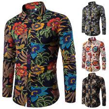 Men's Dress Shirt Dashiki Hippie Shirts Slim Tops Hip Hop Casual Shirt