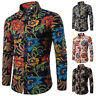 Men's Dress Shirt Dashiki Hippie Shirts Slim Tops Hip Hop Casual Shirt