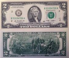 USA 2009 2 DOLLAR FRN UNCIRCULATED CRISP BANKNOTE B SERIES NEW YORK USA SELLER