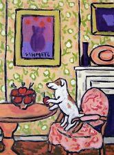 Jack Russell Terrier Apple Thief dog art 13x19 Glossy Print