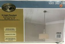 Hampton Bay 3-Light Brushed Nickel Pendant New