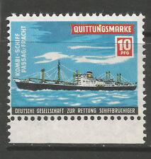 German Ship Rescue Society 10pfg charity stamp/label (J)