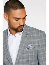 Quizman Slim Fit Blazer in grau mit Check Detail RRP £ 70
