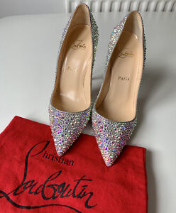 New Christian Louboutin So Kate 120 Crystal Strass Beautiful Bridal Shoe UK5