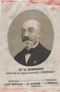ancienne soie st etienne représentant L.Zamenhof