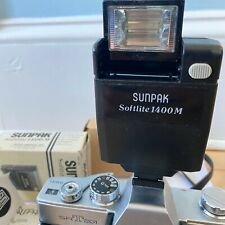 Softlite Sunpak Camera Flash Unit Vintage for Film Tested Working 1400M 650-140