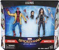 MARVEL LEGENDS SPIDER-MAN HOMECOMING & MARVEL'S MJ ACTION FIGURE 2 PACK