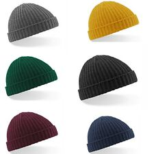 6d4985af8df Mens Ladies Retro Style Knitted Fisherman Trawler Beanie Vintage Look