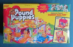 "Vintage Galoob Pound Puppies ""Fashion Fun Mall"" Playset/ With Figures NEW NIB"