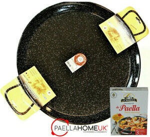 PAELLA PAN 15cm - 34cm PROFESSIONAL ENAMELLED STEEL + AUTHENTIC PAELLA GIFT