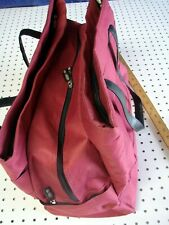 """CIAO, Canvas Laptop Messenger Case, Soft Carry on Bag, 18"""" x 11"""" x 8"""", Red."""