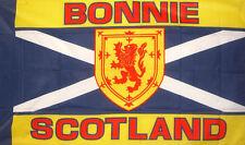 BONNIE  SCOTLAND  FLAG 5 X 3 SCOTTISH TARTAN SCOTS GLASGOW EDINBURGH