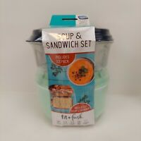 Fit and Fresh Fresh Selects Soup and Sandwich Value Set Microwave Safe Freezer