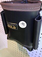 9 Flame Retardant Heavy Leather Black Canvas Bolt Bag Tool Belt Attachment Pouch