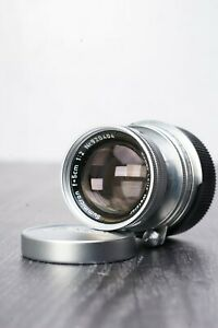 Leica Leitz Summicron 5cm F/2 Collapsable Lens M39 w/ Leitz M-Mount Adapter