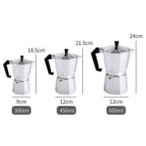 Aluminium Espresso Coffee Maker Italian Stove Top Percolator Moka Pot 6/9/12 Cup