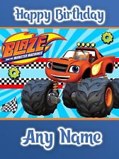 Personalised Birthday Card - Blaze and the Monster Machines - Childrens Boy Son