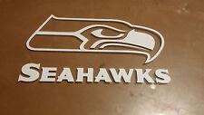 Seattle Seahawks 4 x 7 White Car Decal Sticker
