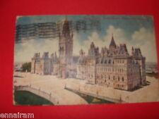 Ottawa Canada Main Block Houses of Parliament 1911 Postcard used