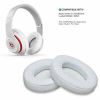 Cuscinetti auricolari di ricambio per Beats Studio 2.0 3.0 B0500 B0501 in Bianco