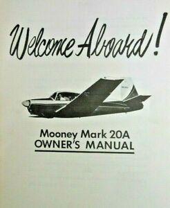 1960 Retractable Mooney Mark 20A Pilot Owner's Handbook Performance Cruise Chart