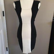 NWT BCBG Maxazria Size M Black & White Knit Bodycon Dress