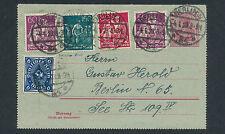 Dt. Reich 160 Pf. Schnitter WZ Waffeln Kartenbrief 1923 Berlin Attest (S12706)