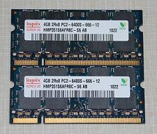 hynix 8GB (2X4GB) PC2 6400 DDR2 800 SODIMM LAPTOP MEMORY