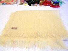 """Glen Cree Scotland pale yellow mohair shawl/blanket 70"""" long"""