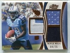 2012 Topps Prime Kendall Wright TRIPLE JERSEY / PATCH RELIC RC 4/25 TITANS