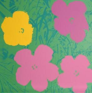 Andy Warhol, Flowers 7, Screenprint, Stamped in Blue verso by Sunday B. Morning