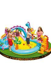 INTEX Dinoland Play Center PISCINA PER BAMBINI SCIVOLO Spray per CILDREN