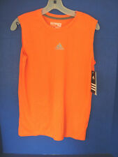 ADIDAS PERFORMANCE~Orange CLIMALITE ULTIMATE TEE T-SHIRT~Boys Large~NWT