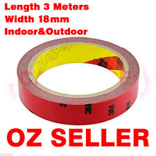 3M Double Face Sided Tape 18mm 3 Meters for car LED Light Weather Shield Panel